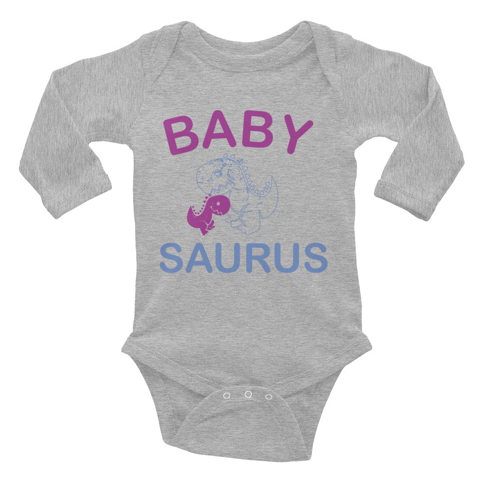 Baby Saurus Design 36 Long Sleeve Bodysuit