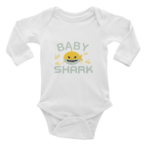 Baby Shark Long Sleeve Bodysuit