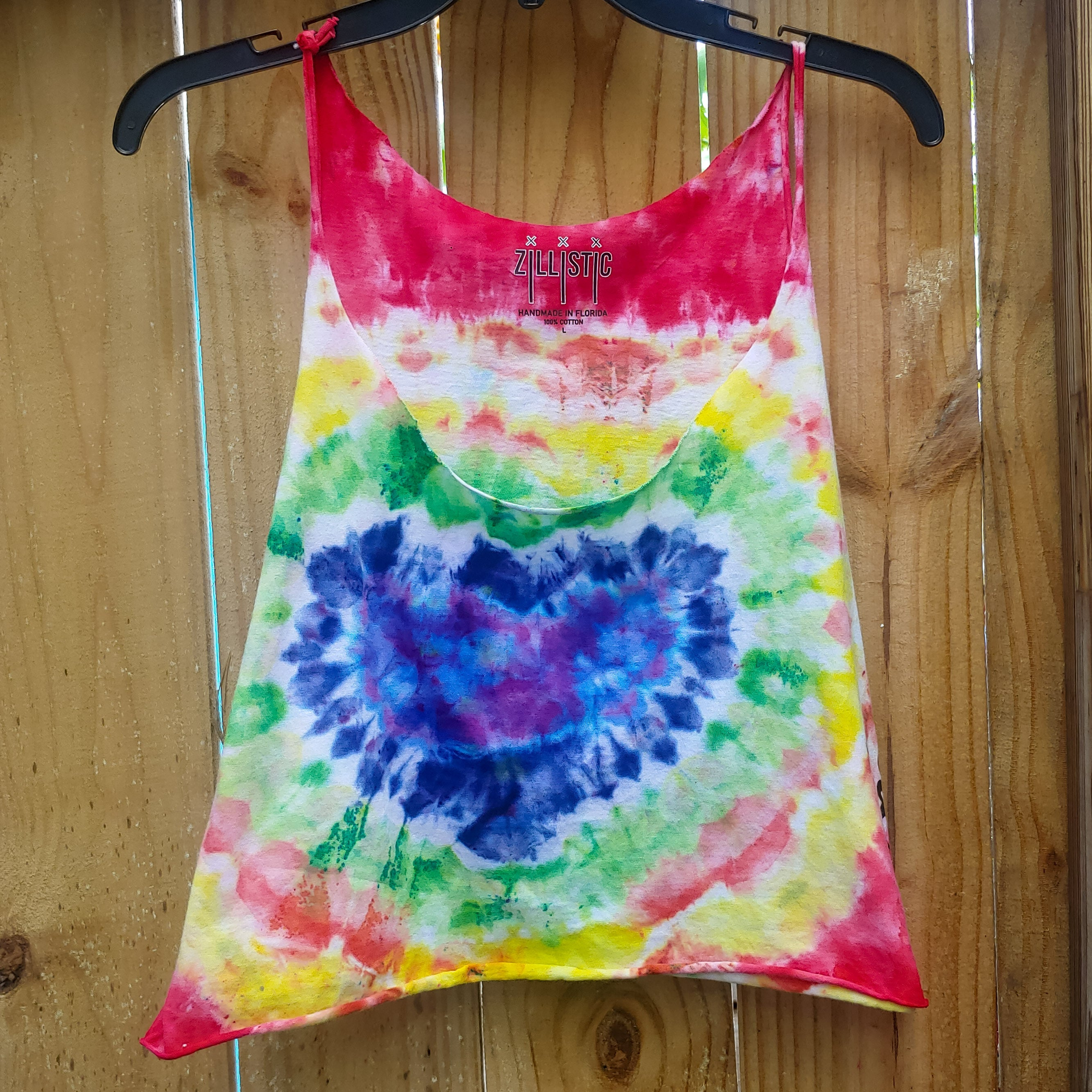 RAINBOW HEART CROPPED TANK - LADIES M