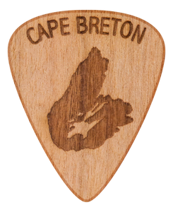 Guitar Pick - Cape Breton Island - Nova Scotia - Maple Wood - Tree Picks