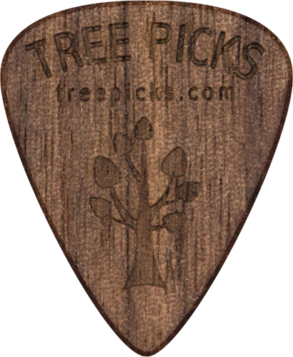Guitar Pick - Walnut Wood - Tree Picks