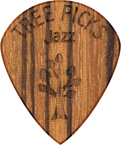 Guitar Pick - Zebra Wood - Tree Picks - Jazz - Zebrano