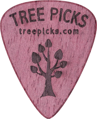 Guitar Pick - Purple Heart Wood - Tree Picks