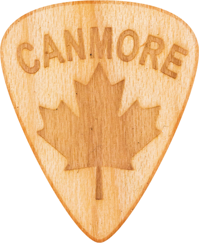Guitar Pick - Canmore - Alberta - Maple Wood - Tree Picks