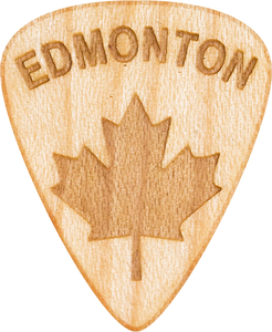 Guitar Pick - Edmonton - Alberta - Maple Wood - Tree Picks