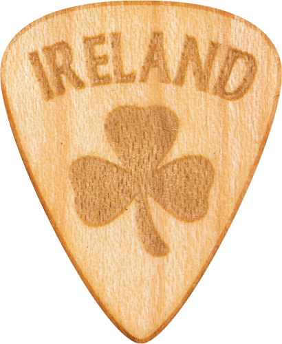 Guitar Pick - Ireland - Irish - Maple Wood - Tree Picks