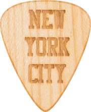 Guitar Pick - New York City - Maple Wood - Tree Picks