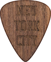Guitar Pick - New York City - Walnut Wood - Tree Picks