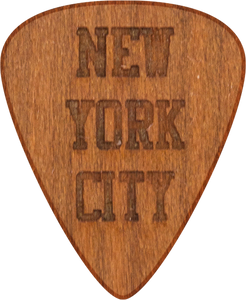 Guitar Pick - New York City - Cherry Wood - Tree Picks