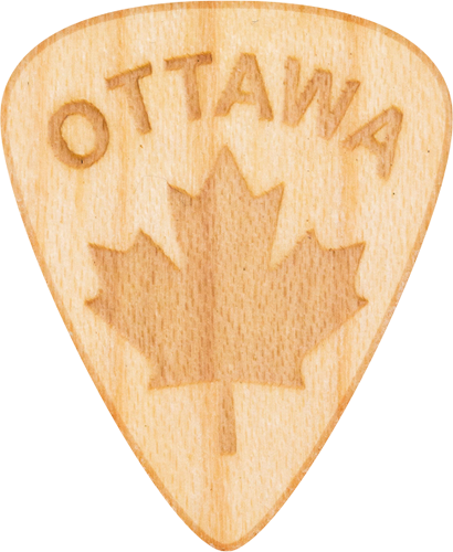 Guitar Pick - Ottawa - Maple Wood - Tree Picks