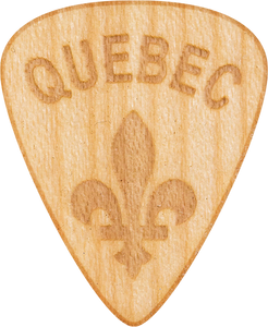 Guitar Pick - Quebec- Erable - bois - Maple Wood - Tree Picks
