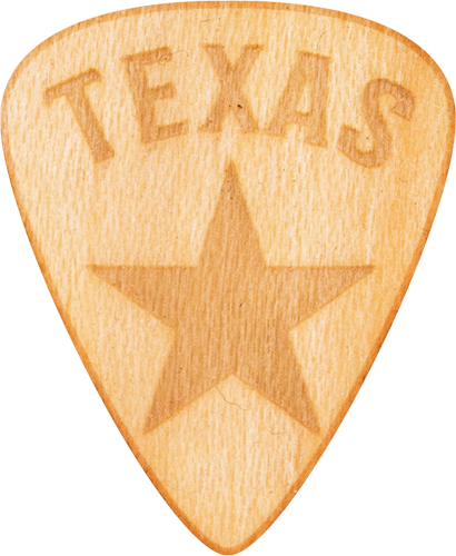 Guitar Pick - Texas - Maple Wood - Tree Picks