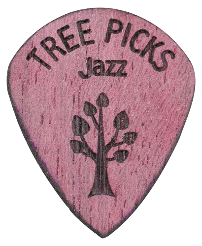 Guitar Pick - Purple Heart Wood - Tree Picks - Jazz
