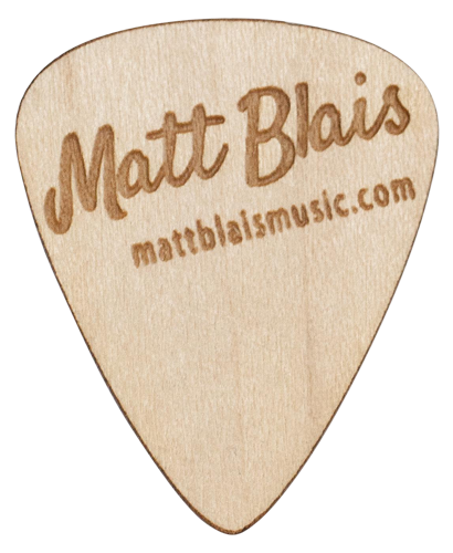 matt blais guitar pick - wood