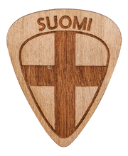 Guitar Pick - Finland - Suomi - Cherry Wood - Tree Picks