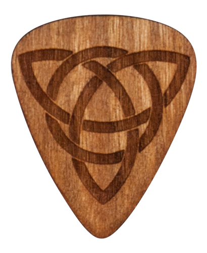Guitar Pick - Celtic Knot - Trinity - Cherry Wood - Tree Picks