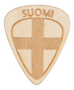 Guitar Pick - Finland - Suomi - Maple Wood - Tree Picks