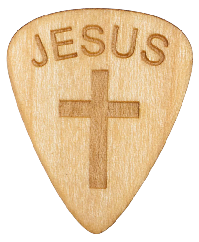 Guitar Pick - Jesus - Christian - Maple Wood - Tree Picks