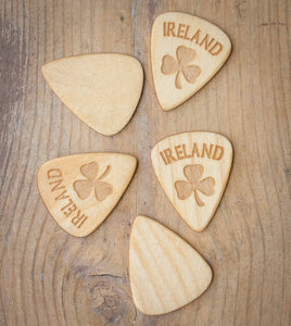 Ireland guitar picks maple wood