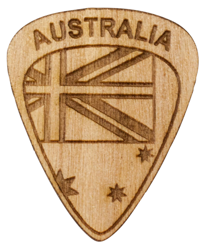 Guitar Pick - Australia - Maple Wood - Tree Picks
