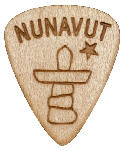 Nunavut guitar picks wood maple music