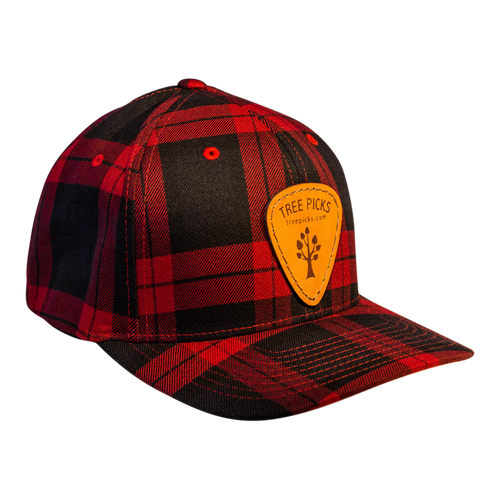 Tree Picks - Hat - Ball Cap - Checkered - Plaid - Lumberjack - Red