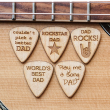 fathers day guitar picks gift wood