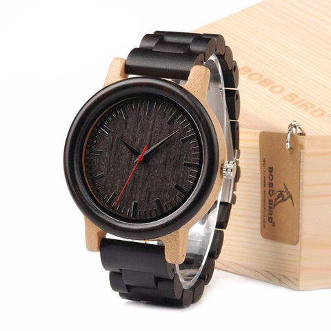 Wood & Bamboo Black Stained Eco Watch