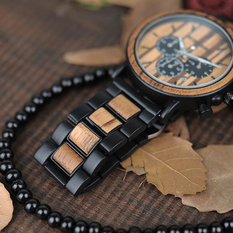 Wood and Stainless Steel Eco Watch