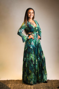Polynesian Green | pleated Dress