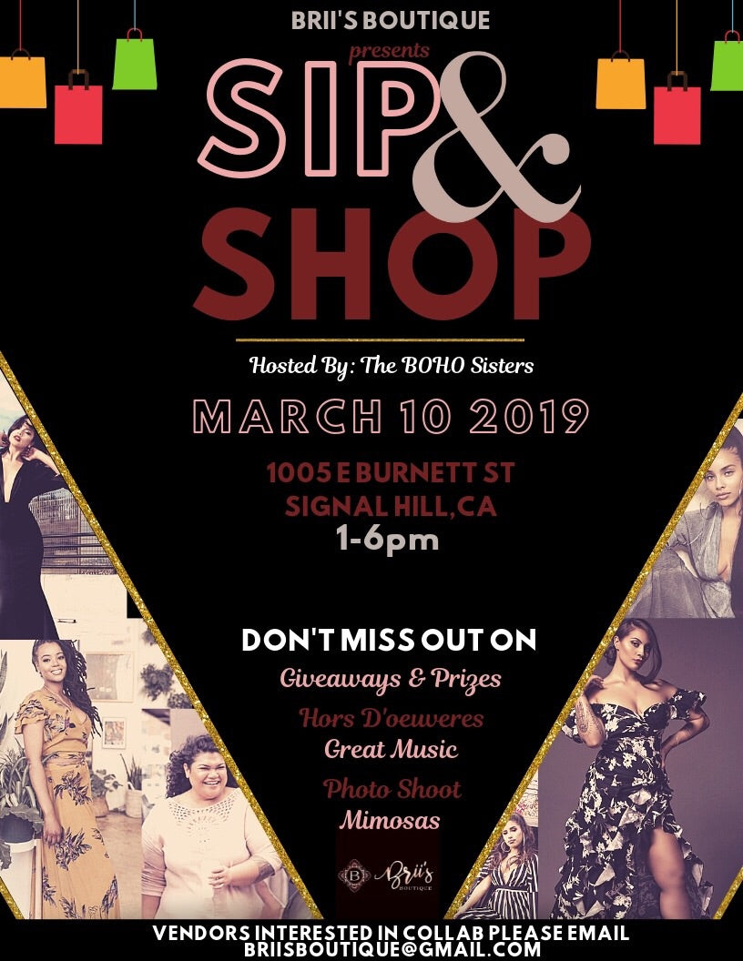 Vendors Fee for Sip & Shop event 3/10/19