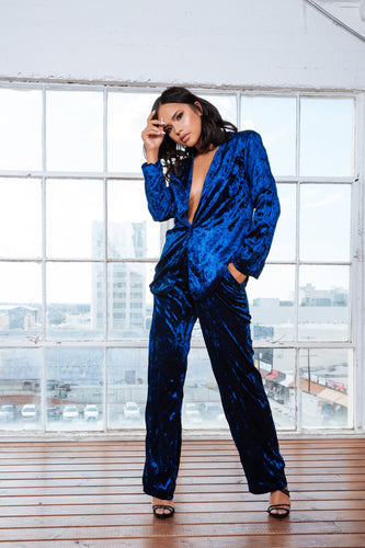 Royal Velvet Set Suit | 2 piece set