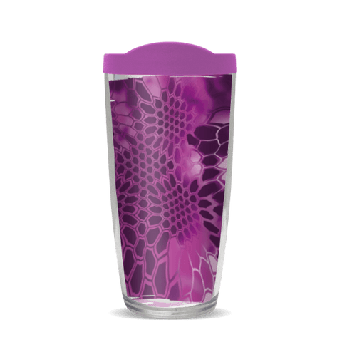 16oz Kryptek Pink With Purple Lid