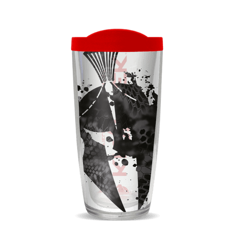 24oz Pontus Splatter - Helmet With Fire Red