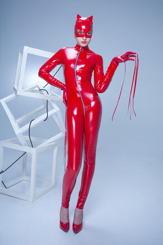 Patrice Catanzaro - Sweety Vinyl Catsuit Red