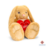 "odalFluffy rabbits duo ""love-heart"" 55cm"