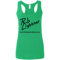 2018 Rob Lightner Summer Tour Black Logo G645RL Gildan Ladies' Softstyle Racerback Tank