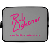 Rob Lightner Pink Logo Laptop Sleeve - 10 inch