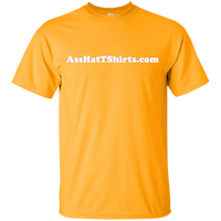 AssHatTShirts.com Kid's White Logo T-Shirt - G200B Gildan Youth Ultra Cotton