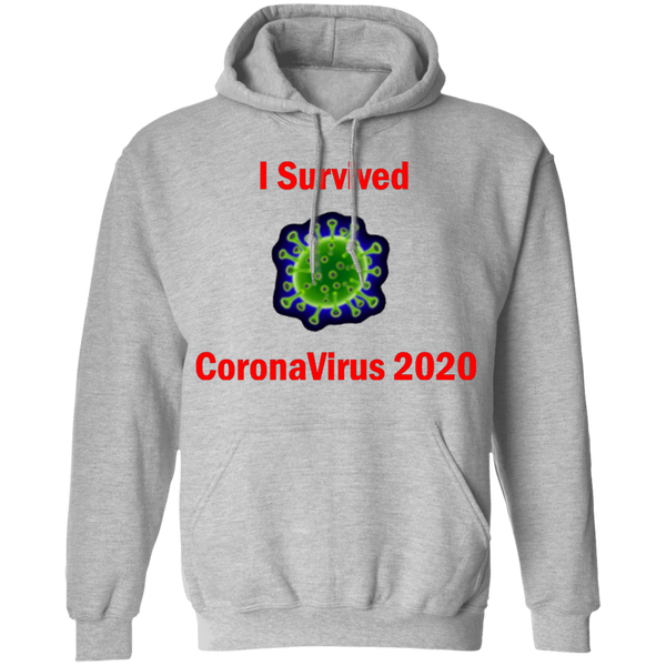 I Survived CoronaVirus 2020 - G185 Pullover Hoodie 8 oz.