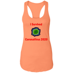 I Survived CoronaVirus 2020 - NL1533 Ladies Ideal Racerback Tank