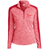 Rob Lightner Red Logo LST397 Sport-Tek Ladies' Electric Heather Colorblock 1/4-Zip Pullover