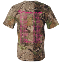2019 Rob Lightner Summer Tour Pink Logo 980 Code V Short Sleeve Camouflage T-Shirt