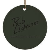 Rob Lightner Black Logo Ceramic Holiday Ornament