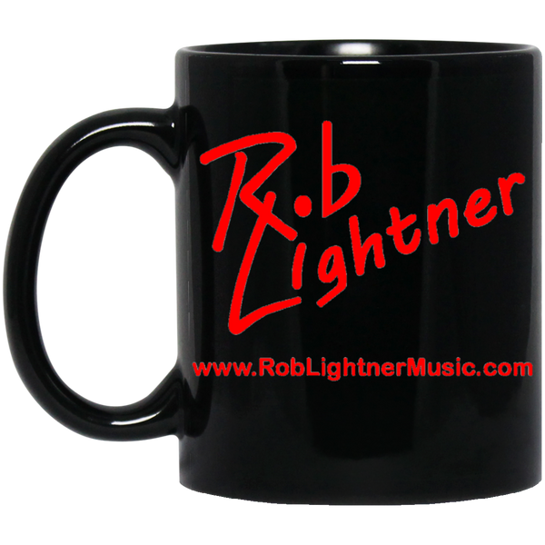 Rob Lightner Red Logo 11 oz. Black Ceramic Mug