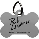 Rob Lightner Black Logo Dog Bone Pet Tag