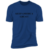 KEEP AMERICA GREAT Black Print NL3600 Next Level Premium Short Sleeve T-Shirt