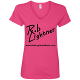 2019 Rob Lightner Summer Tour Black Logo 88VL Anvil Ladies' V-Neck T-Shirt