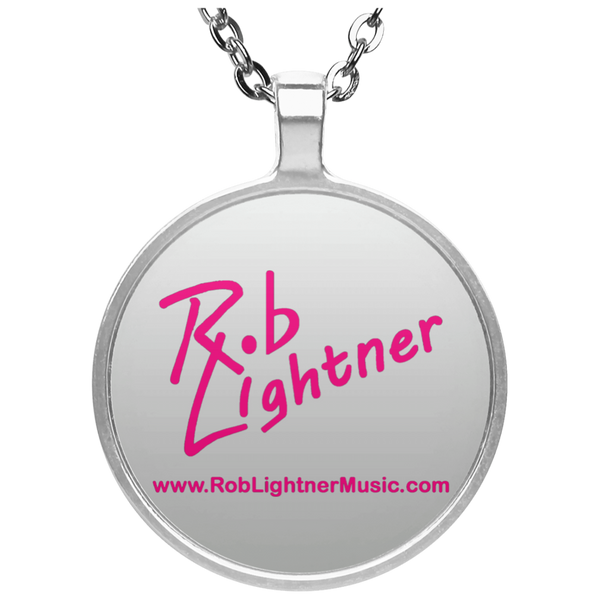 Rob Lightner Pink Logo Pendant Necklace