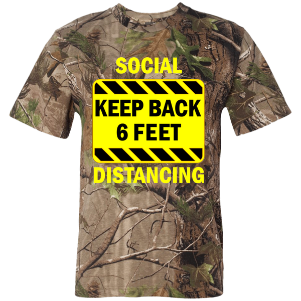 Social Distancing - 3980 Short Sleeve Camouflage T-Shirt
